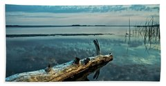 Beach Sheet featuring the photograph Lake Champlain Vermont - Serene Reflections by James Aiken