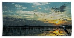 Beach Sheet featuring the photograph Lake Champlain Vermont Sunrise - 2 Landscape by James Aiken