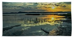 Beach Sheet featuring the photograph Lake Champlain Vermont Sunrise - 3 Landscape by James Aiken