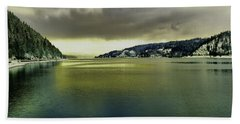 Beach Towel featuring the photograph Lake Coeur D' Alene by Jeff Swan
