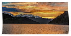 Lake Dillon Sunset Beach Towel