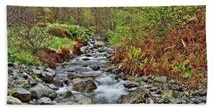 Lake District Autumn Stream Beach Towel