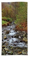 Lake District Mountain Stream Beach Towel