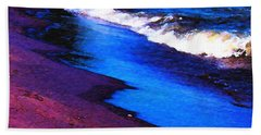 Beach Towel featuring the photograph Lake Erie Shore Abstract by Shawna Rowe