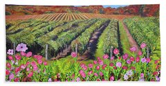 Lake Erie Vineyard-fall Colors Beach Towel