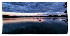 Beach Towel featuring the photograph Lake Evening by Tom Singleton