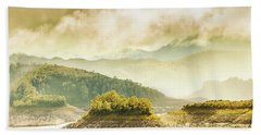 Lake Gordon Landscape Beach Towel