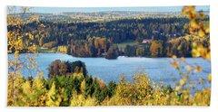 Lake Hiidenvesi Autumnscape Beach Towel