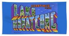 Lake Hopatcong Greetings Beach Sheet
