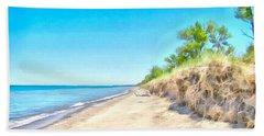 Lake Huron Shoreline Beach Towel by Maciek Froncisz