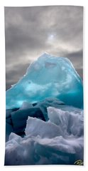 Lake Ice Berg Beach Towel