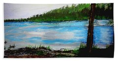 Lake In Virginia The Painting Beach Towel