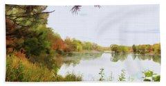 Lake Katherine In October Beach Sheet