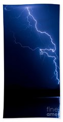 Lake Lightning Strike Beach Towel