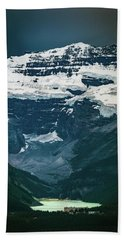 Beach Towel featuring the photograph Lake Louise At Distance by William Lee