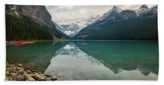 Lake Louise In The Fall Beach Towel