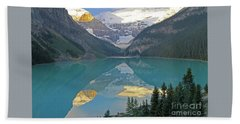 Lake Louise Sunrise Beach Towel