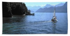 Lake Lucerne Beach Towel by Therese Alcorn