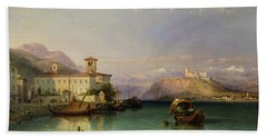 Lake Maggiore Beach Towel by George Edwards Hering