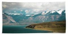 Lake Manasarovar Kailas Yantra.lv Tibet Beach Towel