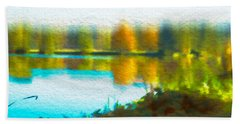 Beach Towel featuring the photograph Lake Mayer 2 by Frank Bright