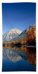 Lake Mcdonald Autumn Beach Towel