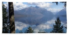 Lake Mcdonald Glacier National Park Beach Towel by Marty Koch