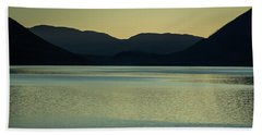 Lake Mcdonald Sunset Beach Towel
