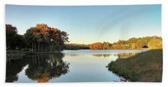 Beach Towel featuring the photograph Lake by Melinda Blackman
