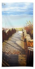 Beach Towel featuring the photograph Lake Michigan In The North by Michelle Calkins