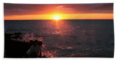 Beach Towel featuring the photograph Lake Michigan Sunset by Bruce Patrick Smith