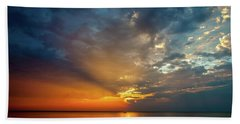 Lake Michigan Sunset Beach Towel