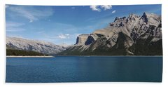 Lake Minnewanka, Alberta Beach Sheet by Heather Vopni