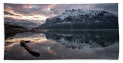 Lake Minnewanka Dawn Beach Sheet