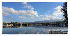 Lake Mission Viejo Cloud Reflections Beach Towel