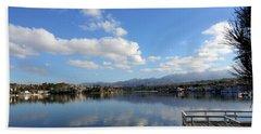 Lake Mission Viejo Cloud Reflections Beach Sheet