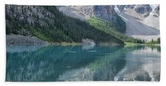 Beach Sheet featuring the photograph Lake Moraine by Patricia Hofmeester