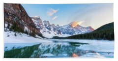 Lake Moraine Sunset Beach Towel