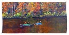 Lake Nockamixon Autumn Beach Towel