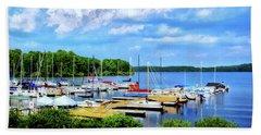 Lake Nockamixon Marina Beach Towel