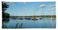 Lake Nokomis Minneapolis City Of Lakes Beach Towel