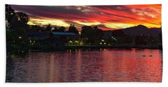 Beach Towel featuring the photograph Lake Of Fire by Dan McGeorge