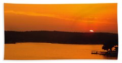 Beach Sheet featuring the photograph Lake Of The Ozarks 1 by Don Koester