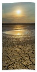 Beach Towel featuring the photograph Lake On Fire by Davor Zerjav