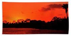 Lake Osborne Sunset Beach Towel