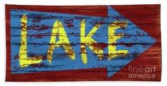 Lake Sign Beach Towel