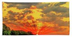 Lake Sunrise - Lakeside Landscape Beach Towel by Barry Jones