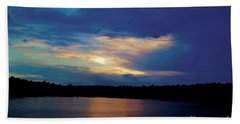 Lake Sunset Beach Towel by Debra Crank