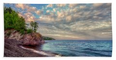 Beach Towel featuring the photograph Lake Superior Shores by Rikk Flohr