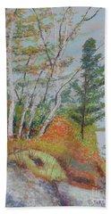 Lake Susie In Fall Beach Sheet